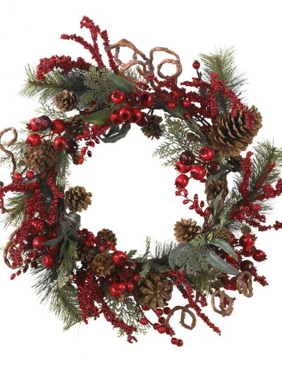 24 inch Assorted Berry Wreath For Christmas 2014