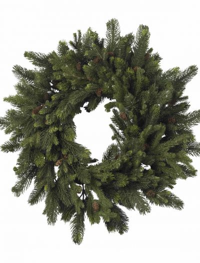 30 inch Pine and Pinecone Wreath For Christmas 2014
