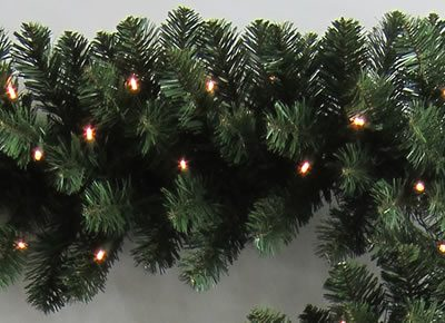 9 Foot x 14 Inch PerfectLit LED Artificial Christmas Garland (Christmas Tree)