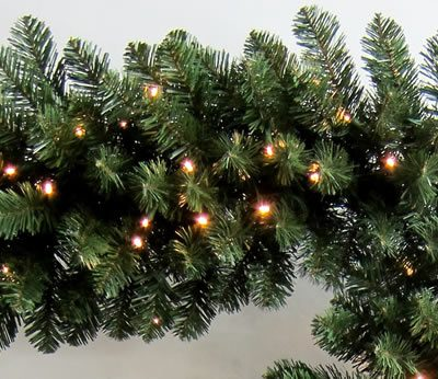 9 Foot x 16 Inch PerfectLit LED Artificial Christmas Garland