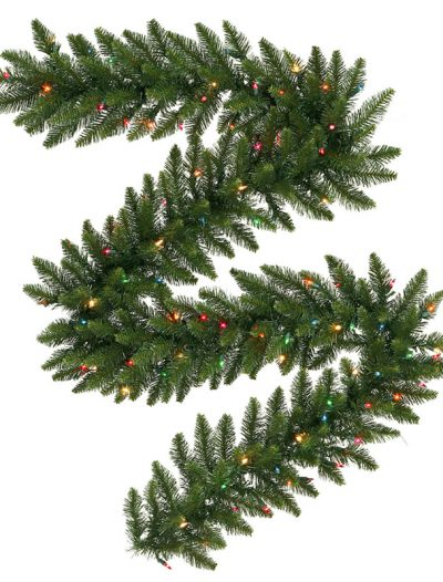 Vickerman A861119LED 9 ft. x 16 in. Camdon Garland 150LED Multi (Christmas Tree)
