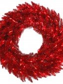 Red Tinsel Wreath For Christmas 2014
