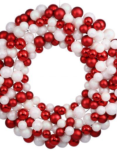 24 inch Ornament Ball Wreath For Christmas 2014