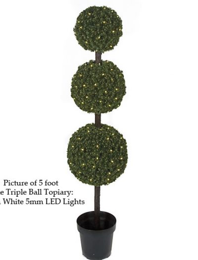 Pine Triple Ball Topiary For Christmas 2014