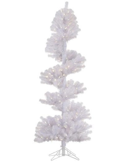 7 foot White Spiral Topiary: Warm White Mini Lights For Christmas 2014