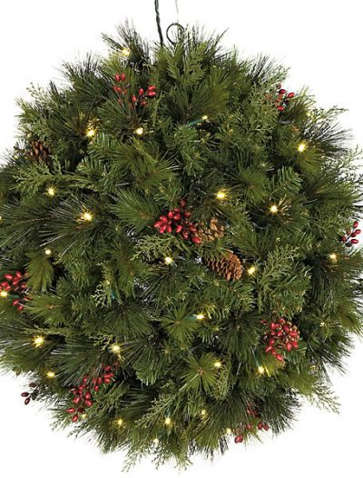 26 Inch Hanging Mixed Pine Ball: LED Lights For Christmas 2014