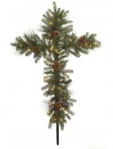48 Inch Mixed Pine Cross: Clear Lights: Set of (6) For Christmas 2014