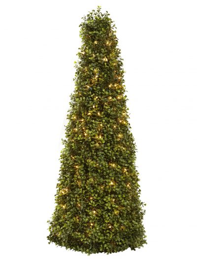39 inch Artificial Boxwood Cone with Lights For Christmas 2014
