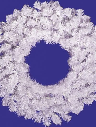 "Vickerman 06721 - 30"" Crystal White Spruce Christmas Wreath (A805830) (Christmas Tree)"