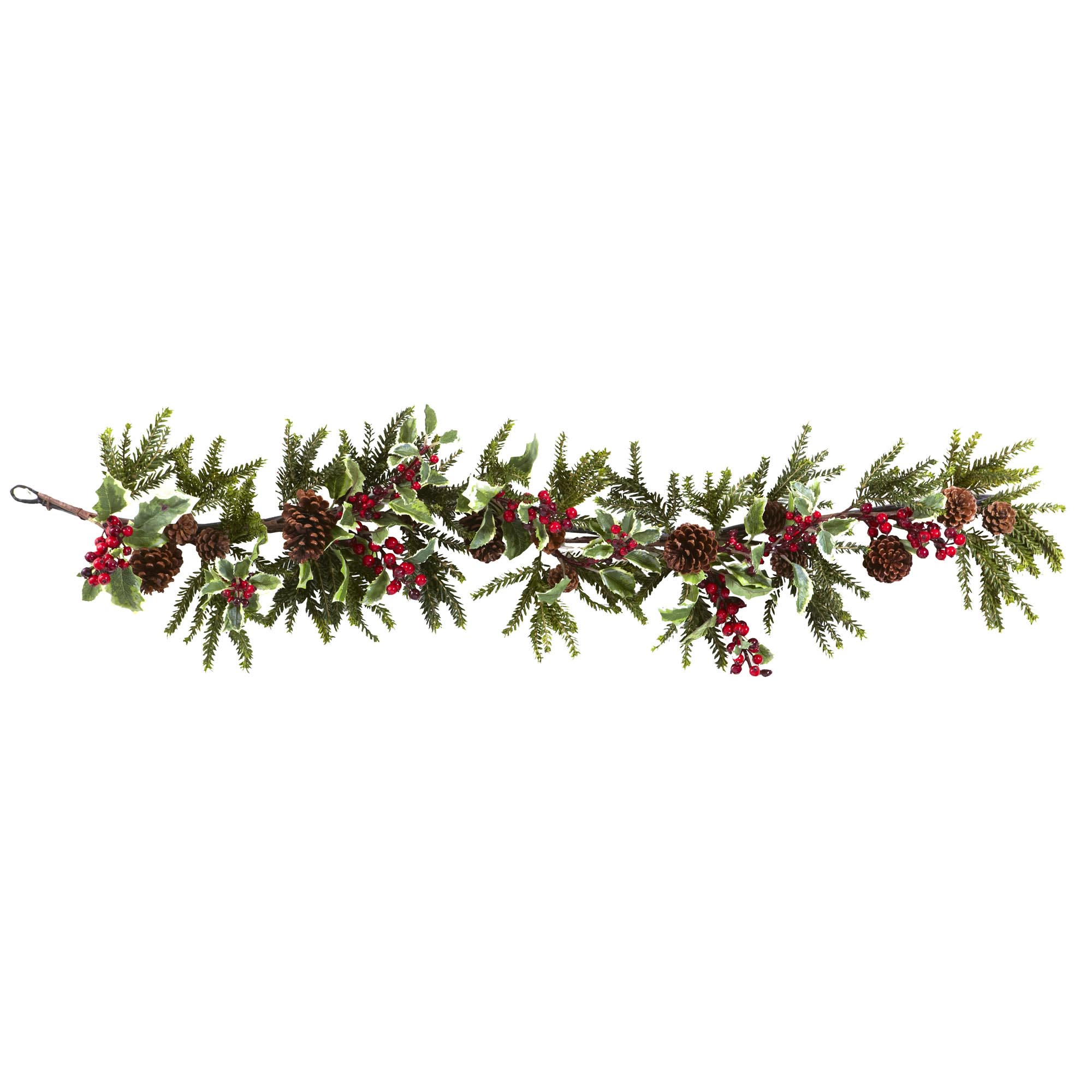 54 inch artificial holly berry garland - Christmas Garland
