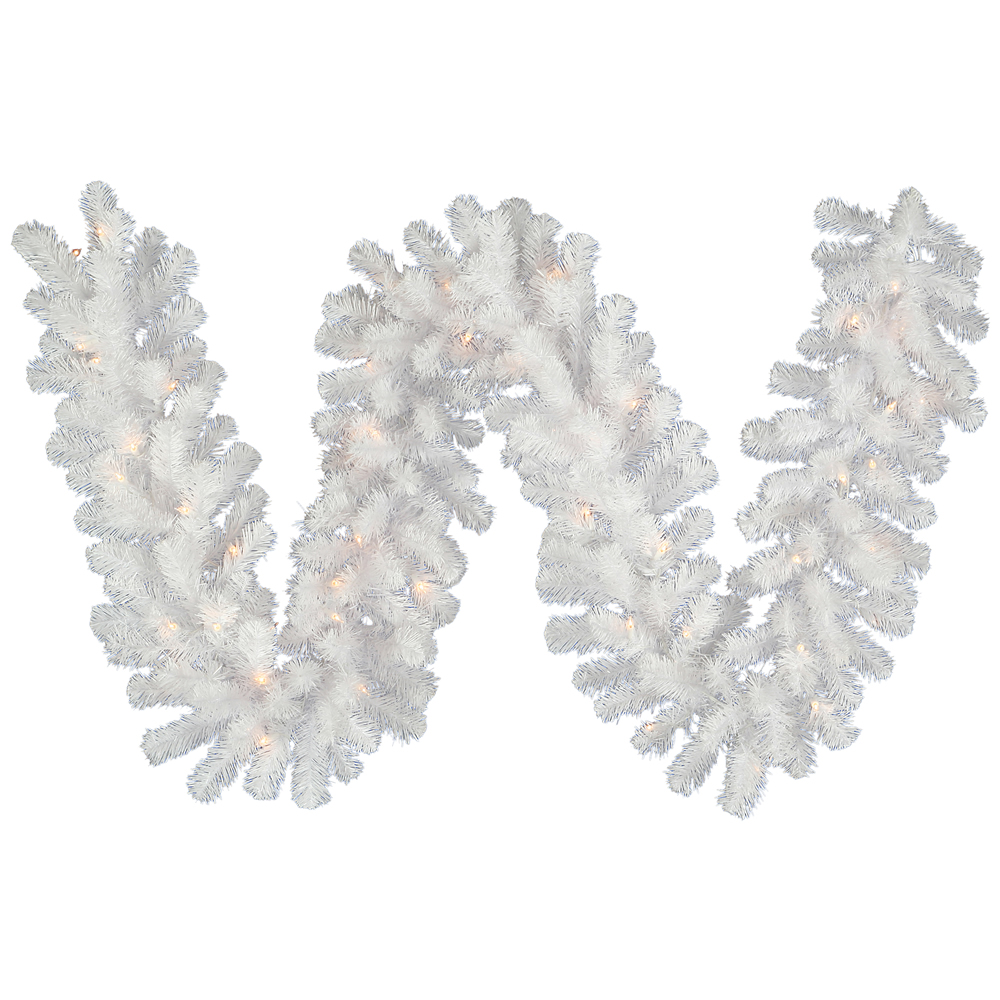 Crystal White Garland - Christmas Trees