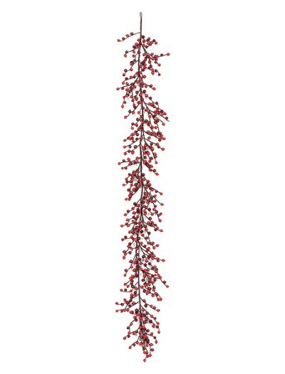 6 foot Red and Burgundy Wild Gooseberry Garland: Set of (4) For Christmas 2014
