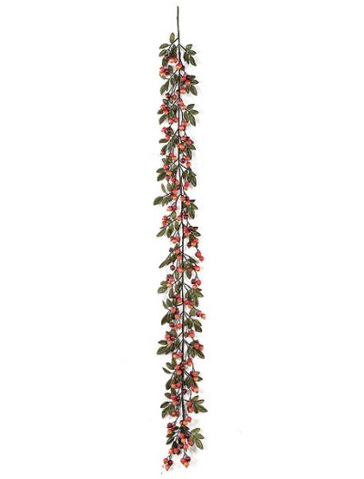 6 foot Fall Color Crabapple Garland with Leaves: Set of (6) For Christmas 2014