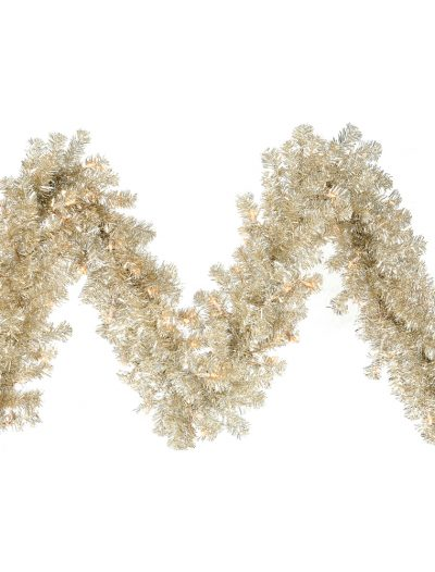 9 foot Champagne Garland For Christmas 2014