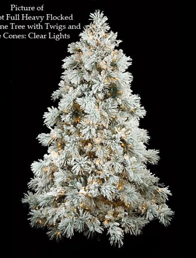 Full Heavy Flocked Long Needle Pine Christmas Tree For Christmas 2014