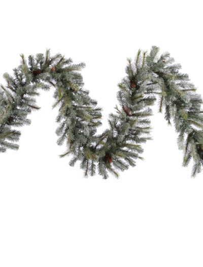 9 foot Frosted Sartell Garland For Christmas 2014