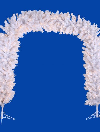 8 foot Crystal White Arch For Christmas 2014