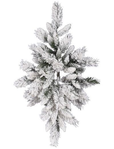 32 inch Flocked Snow Ridge Pine Swag For Christmas 2014