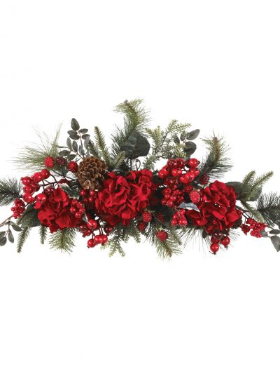 30 inch Holiday Hydrangea Swag For Christmas 2014