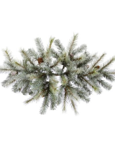 36 inch Frosted Sartell Pine Swag Centerpiece For Christmas 2014