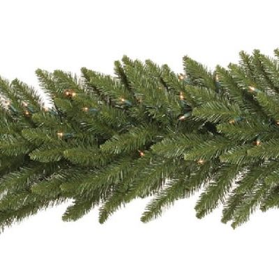 Vickerman 9 ft. Camden Garland with 150 Warm White LED (Christmas Tree)