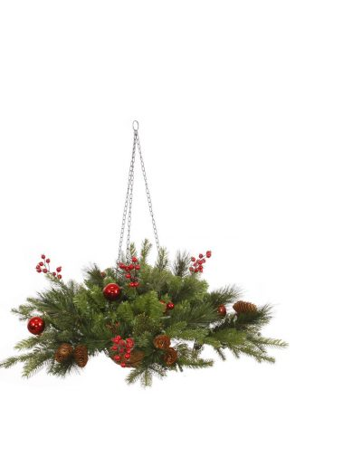 Mixed Berry Ball Hanging Basket For Christmas 2014