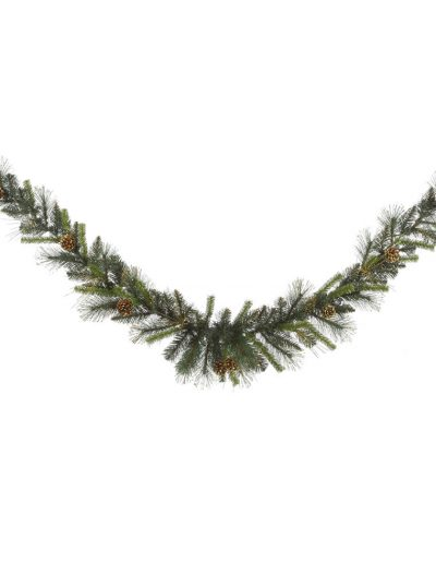 Gold Glitter Tip Mixed Pine Swag Garland For Christmas 2014