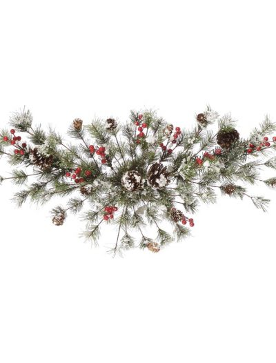 Artificial Snowy Monterey Pine Swag with Berries For Christmas 2014