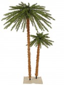 4 and 6 foot Outdoor Palm Christmas Tree with Clear Lights For Christmas 2014