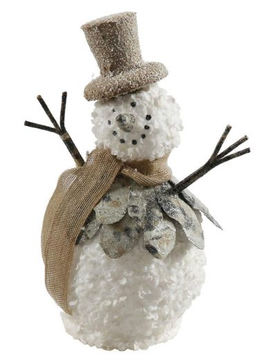 1 foot Burlap Christmas Snowman Ornament For Christmas 2014