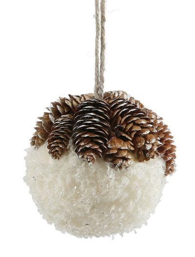 4.5 inch Snow Christmas Ball Ornament For Christmas 2014
