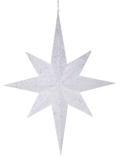 31.5 inch Glitter 8 Point Star Ornament For Christmas 2014