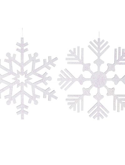 32 inch Glitter Snowflake Ornament For Christmas 2014