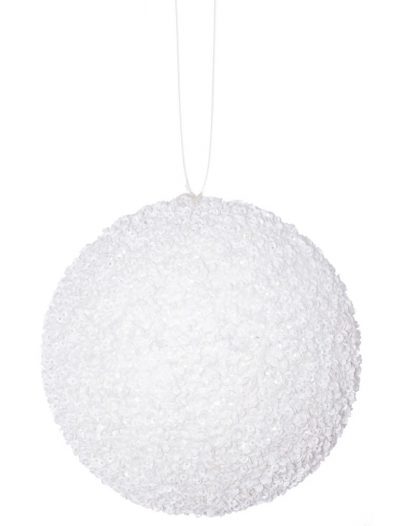 4.75 inch Artificial Beaded Sequin Ball Ornament (set of 3) For Christmas 2014