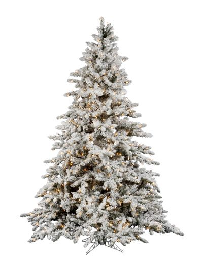 Flocked Utica Fir Christmas Tree For Christmas 2014