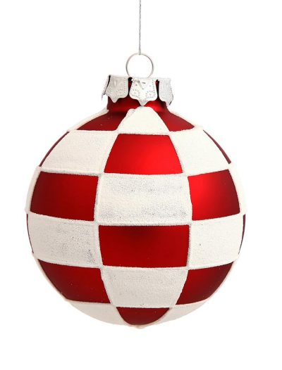 3 inch Check Balls Christmas Ball Ornament (Set of 4) For Christmas 2014