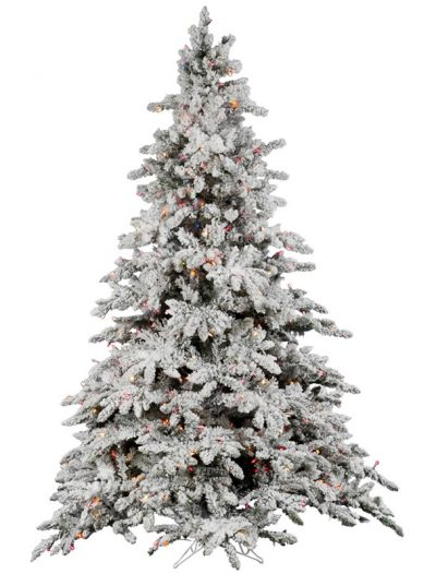 Vickerman A895177 7.5 ft. x 65 in. Flocked Utica Dura-Lit 850MU (Christmas Tree)