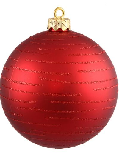 4.75 inch Christmas Ball with Glitter Ornament For Christmas 2014