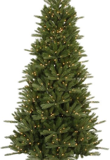 Vickerman C102176 Vermont Instant Shape 7.5 Ft. Artificial Tree with 700 Clear Lights (Christmas Tree)