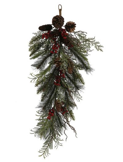 2.5 foot Cedar Cone Berry Pine Christmas Teardrop For Christmas 2014