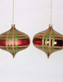 4 inch Glitter Christmas Onion Drop Ornament (Set of 4) For Christmas 2014
