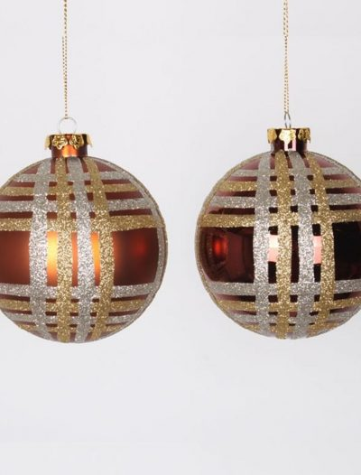 3.93 inch Glitter Christmas Ball Ornament (Set of 4) For Christmas 2014