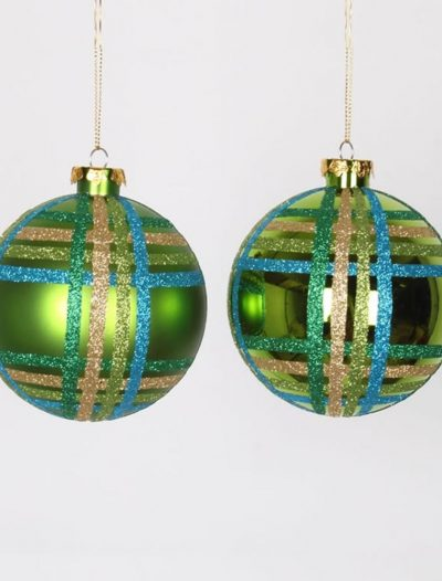 3.93 inch Lime Christmas Ball Ornament (Set of 4) For Christmas 2014
