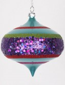3.93 inch Candy Apple Teal Christmas Onion Ornament (Set of 4) For Christmas 2014
