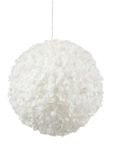 3.5 inch White Sequin Christmas Kissing Ball Ornament For Christmas 2014