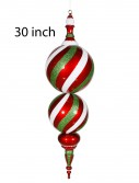 Candy Finial Decoration For Christmas 2014