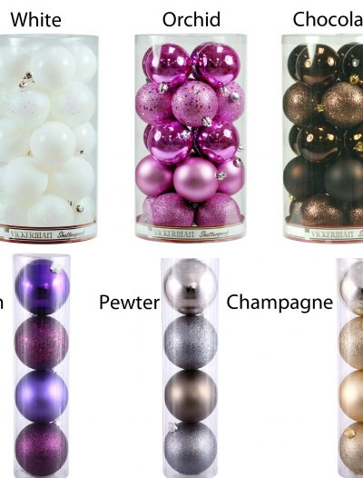 4 inch Assorted Ball Ornaments (Box of 12 Balls) For Christmas 2014