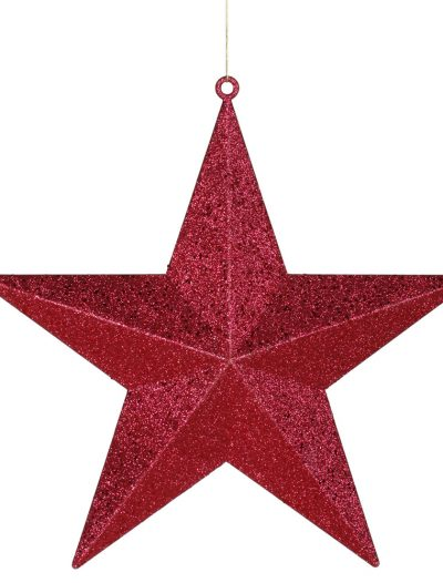 24 inch Glitter Star Ornament For Christmas 2014