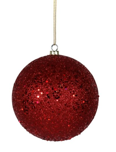 12 inch Red Sequin Ball Ornament For Christmas 2014
