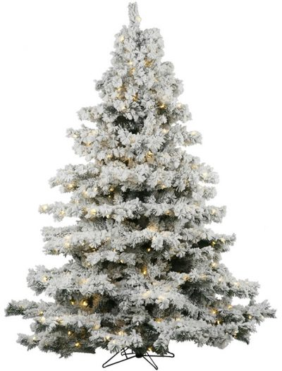 "Vickerman 01423 - 7.5' x 68"" Flocked Alaskan 900 Clear Lights Christmas Tree (A806376) (Christmas Tree)"